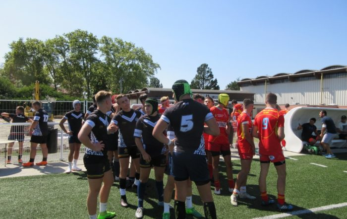 Match amical NET Rugby XV vs Lisle Jourdain lors du stage de cohésion Juniors 2018